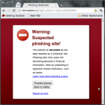 Phishing Detected Chromium